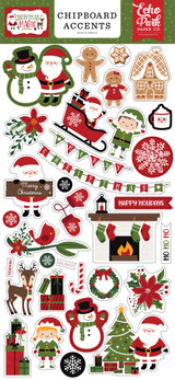 Christmas Magic 6x13 Chipboard Accents