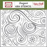 Christmas Magic: Seasonal Swirl Stencil
