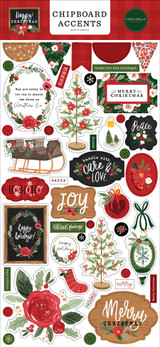 Happy Christmas 6x13 Chipboard Accents