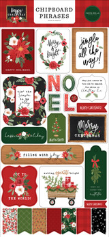 Happy Christmas 6x13 Chipboard Phrases