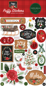 Happy Christmas Puffy Stickers