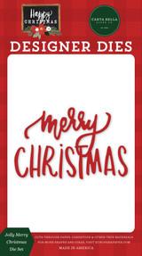Happy Christmas: Jolly Merry Christmas Die Set