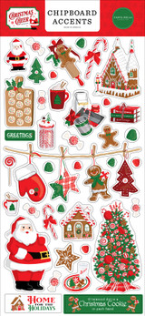 Christmas Cheer 6x13 Chipboard Accents