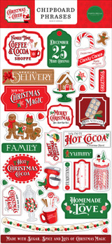 Christmas Cheer 6x13 Chipboard Phrases