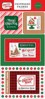 Christmas Cheer 6x13 Chipboard Frames