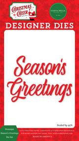 Christmas Cheer: Nostalgic Season's Greetings Die Set