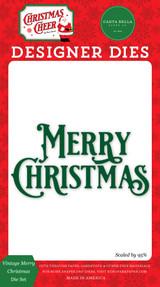 Christmas Cheer: Vintage Merry Christmas Die Set