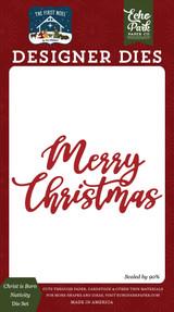 The First Noel: Sweet Merry Christmas Die Set