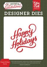 Salutations Christmas: Happy Holidays Die Set