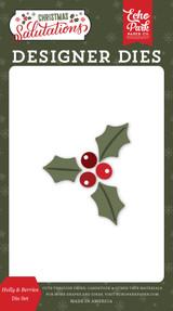 Salutations Christmas: Holly & Berries Die Set