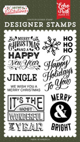 Salutations Christmas: Happy Holidays To You Stamp Set