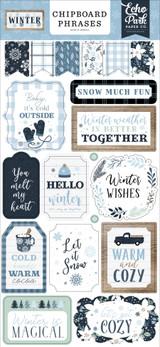 Winter 6x13 Chipboard Phrases