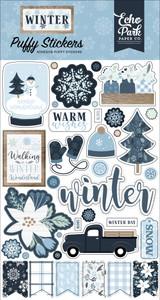 Winter Puffy Stickers