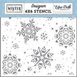Winter: Snowy 6x6 Stencil