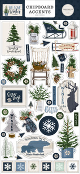 Welcome Winter 6x13 Chipboard Accents