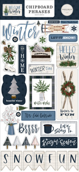 Welcome Winter 6x13 Chipboard Phrases