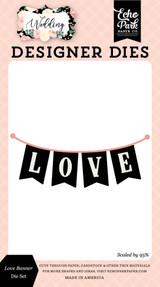 Wedding: Love Banner Die Set