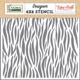 Animal Kingdom: Zebra 6x6 Stencil