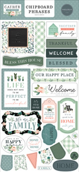 Gather At Home 6x13 Chipboard Phrases