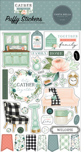 Gather At Home Puffy Stickers