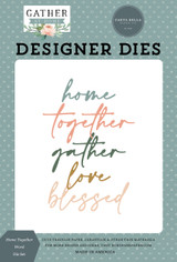 Gather At Home: Home Together Word Die Set
