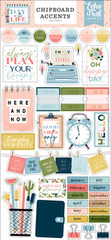 Day In The Life 6x13 Chipboard Accents