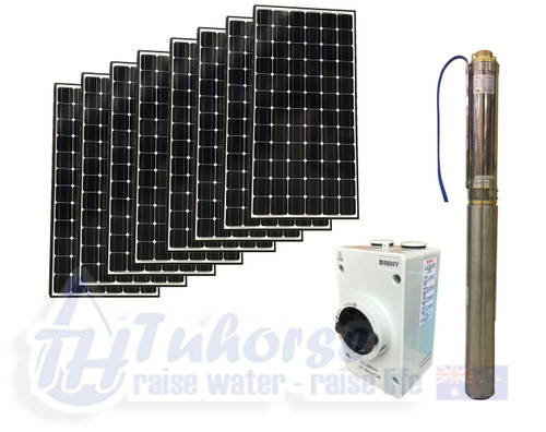 "4"" DC/AC Hybrid Solar Pump with 4x 275W (1100w) solar panel Package (Free Delivery)"