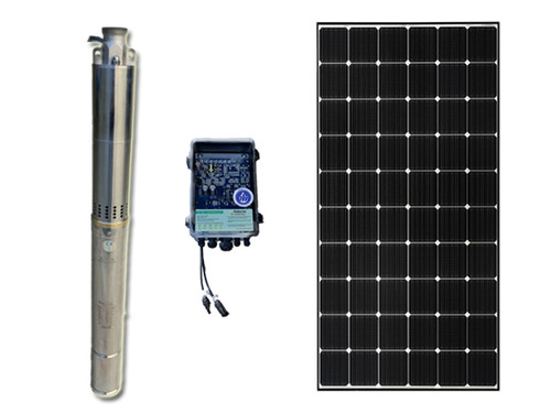 "2""370W Solar Submersible Bore Pump with  400w solar panel & 3m cable Package & free delivery"