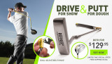 Hinged driver and golf putting aid
