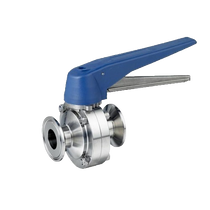 Tri-Clamp Butterfly Valve - Trigger Handle