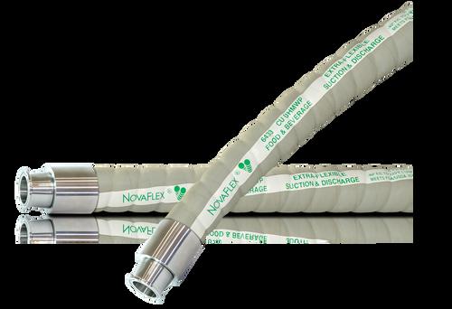 Novaflex 6433WU UHMW FDA Food Transfer Hose Assembly (Tri-Clamp x Tri-Clamp)