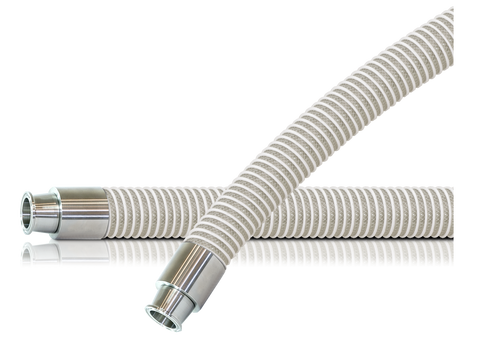 Clear Braided FDA Suction Hose Assembly (Tri-Clamp x Tri-Clamp)