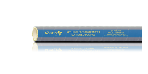 Novaflex 6403CU UHMW Food Transfer Hose