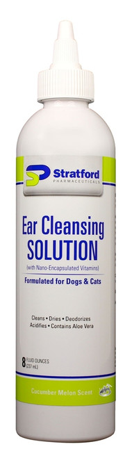 Ear Cleansing Solution for Dogs & Cats [Cucumber Melon scent] (8 oz)