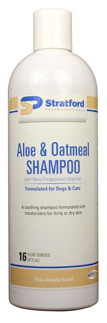 Aloe & Oatmeal Shampoo [Pina Colada scent] for Dogs & Cats [Stratford] (16 oz)