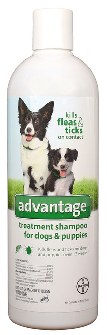 Advantage Treatment Shampoo for Dogs & Puppies (24 oz)