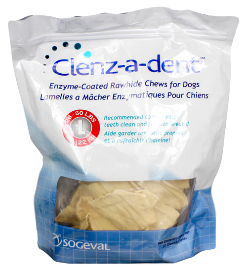 Clenz-a-dent Rawhide Chews for Large Dogs (30 count)