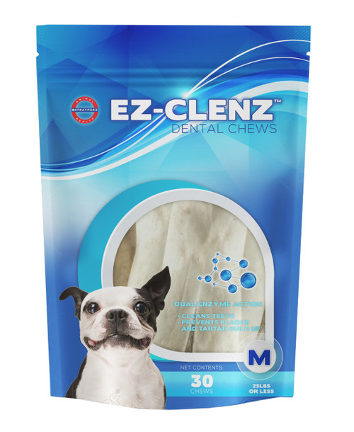 EZ-CLENZ Dental Chews for Medium Dogs (30 count)