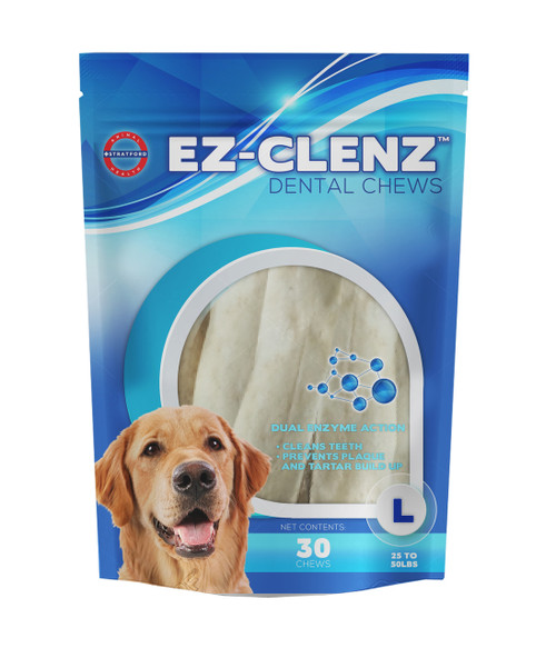EZ-CLENZ Dental Chews for Large Dogs (30 count)