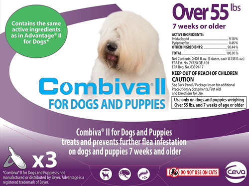 Combiva II Extra Large Dog and Puppy [over 55 lbs] (3 count)