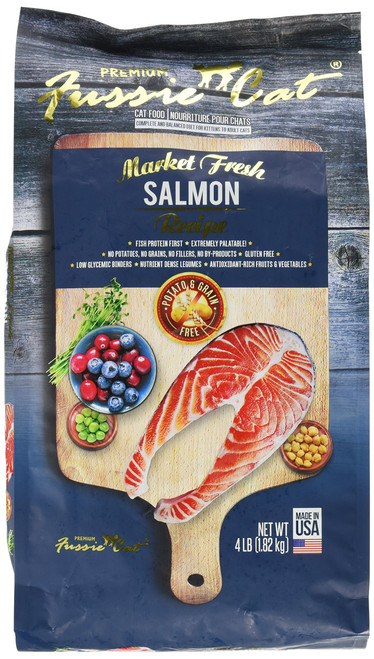 FUSSIE Cat Food Salmon (4 lb)