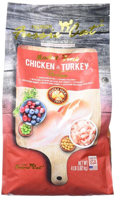 FUSSIE Cat Food Chicken & Turkey (4 lb)
