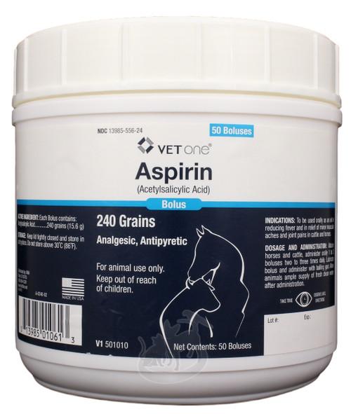 Aspirin 240 g Boluses for Horses & Cattle (50 count)