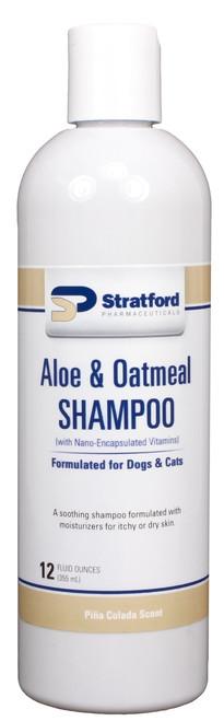 Aloe & Oatmeal Shampoo [Pina Colada scent] for Dogs & Cats [Stratford] (12 oz)