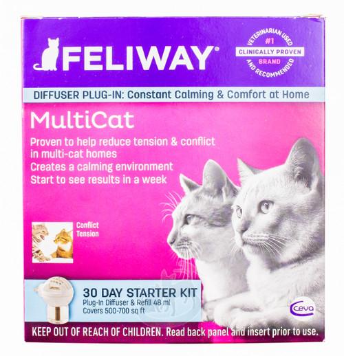 Feliway MultiCat Diffuser 30-Day Starter Kit