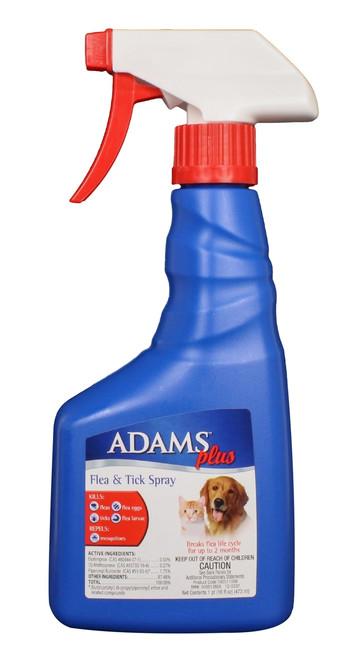 Adams Plus Flea & Tick Spray (16 oz)