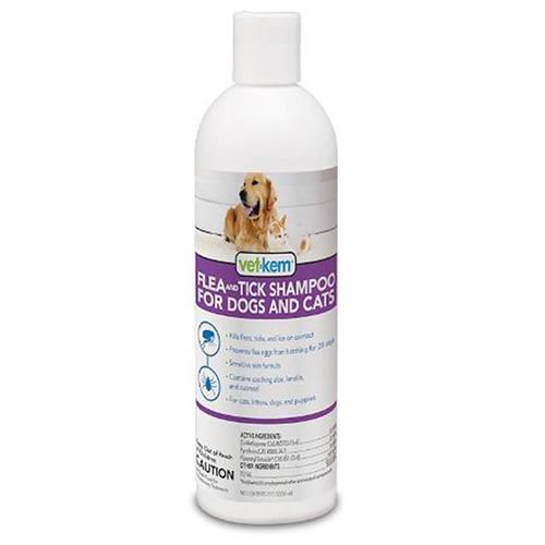 Vet-Kem Flea & Tick Shampoo for Dogs & Cats (12 oz)
