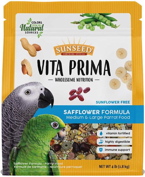 Sunseed Vita Prima Safflower Large Parrot (4 lb)