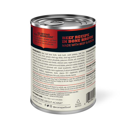 ACANA Bone Broth Dog Food (12 cans)