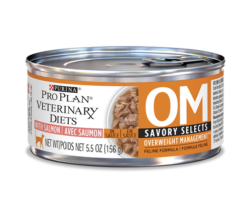 Purina Veterinary Diets Cat Food OM [Savory Selects with Salmon]
